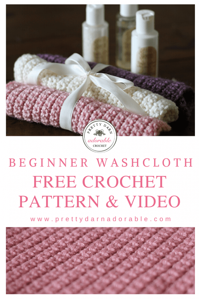 pink crochet washcloth