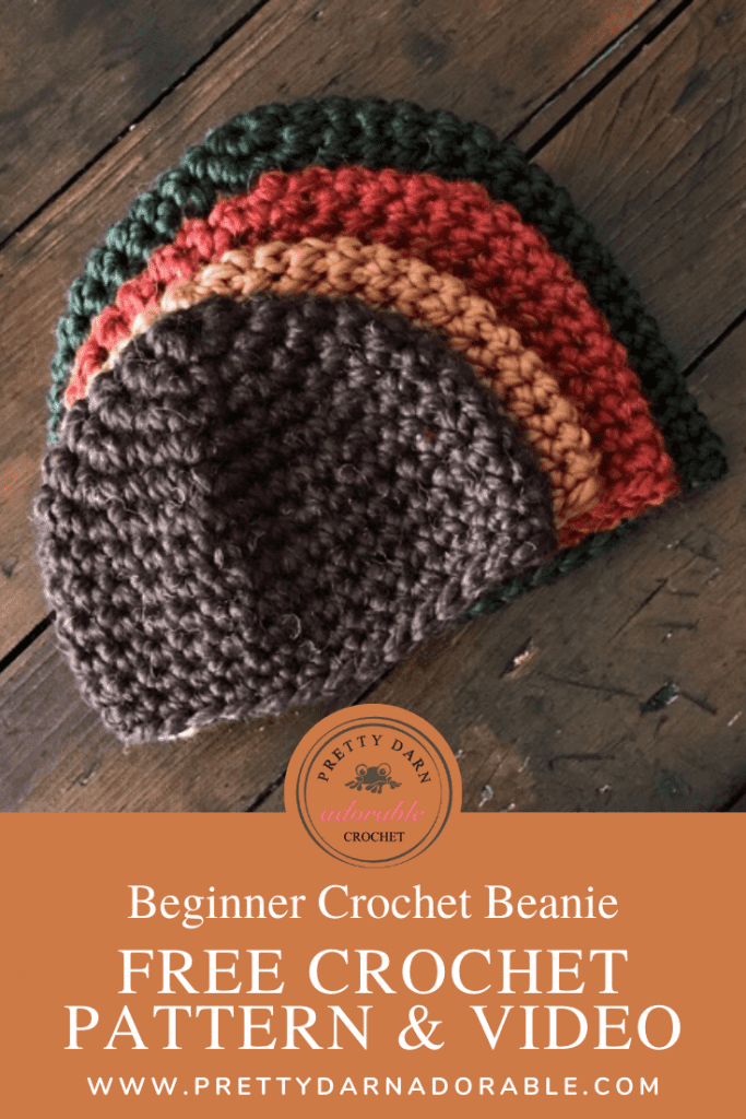 crochet hat multiple sizes and colours