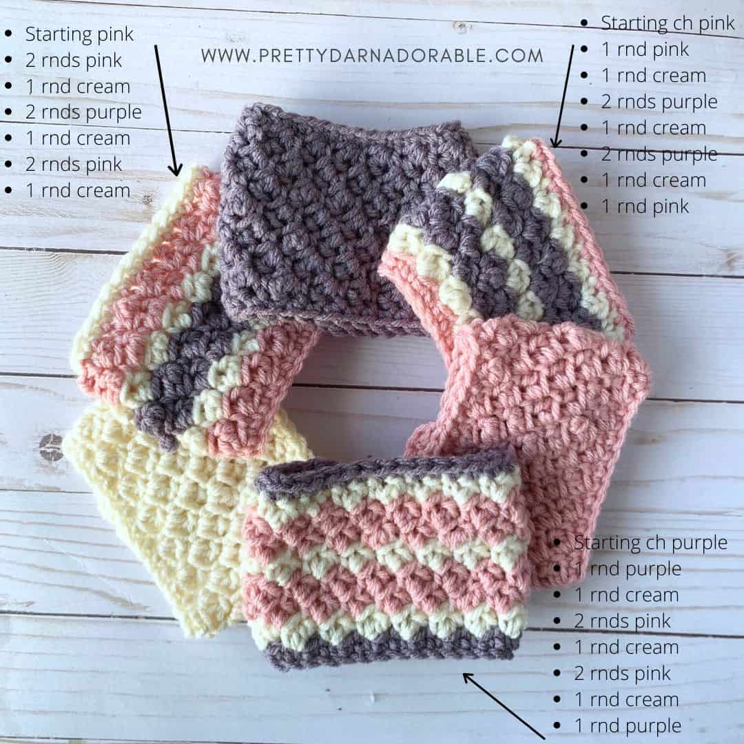 striped crochet cozy pattern