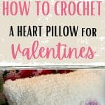 crochet pillow cover for valentines